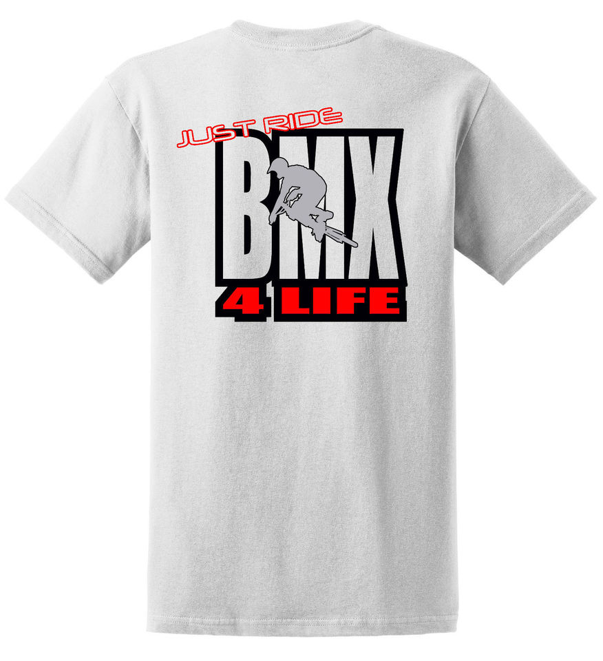 JUST RIDE BMX FREESTYLE YOUTH T SHIRT BIKE BICYCLE GT HARO KINK