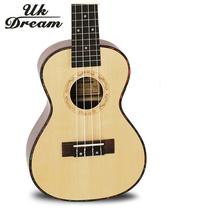 23 Inch High Quality wooden Acoustic Guitar Musical Instruments 4 Strings 17 Frets Guitars Spruce Rosewood Veneer ukulele UC-53A
