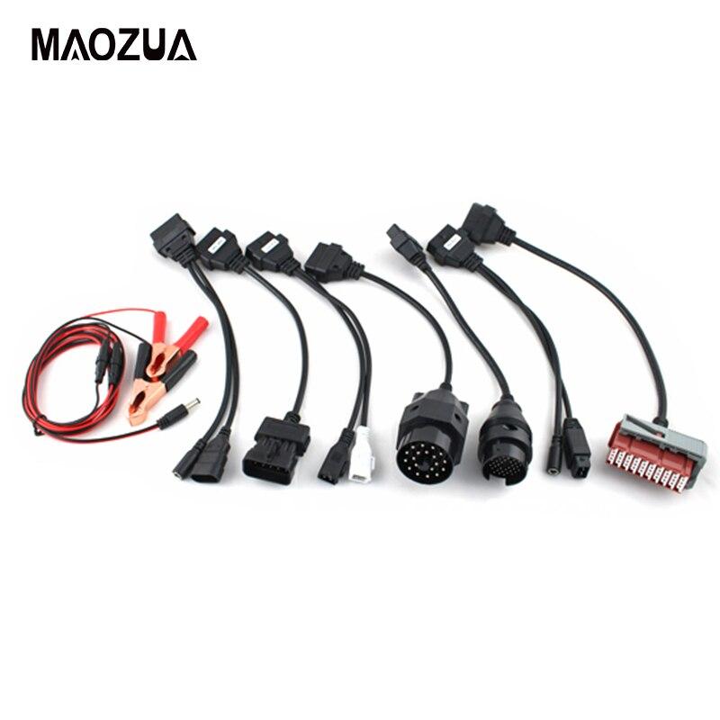 8 PCS Adaptateur Voitures Câbles Ensemble Pour TCS CDP Pro multidiag pro MV diag WOW Voitures De Diagnostic Interface Câble