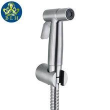 Hogedrukspuit wc sprayer shower bidet hose toilet stainless steel & holder