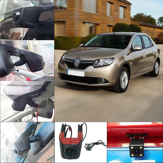 For Renault symbol Car Parking Camera Car Wifi DVR FHD 1080P Novatek 96658 WDR Dual Camera Car Black Box camcorder
