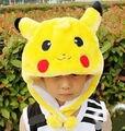 Adultos Traje Pokemon Pikachu Stuffed Animal Cap Chapéu de Pelúcia Beanie Caps Cosplay Chapéu Das Crianças Das Crianças Das Meninas Dos Meninos das Mulheres Dos Homens