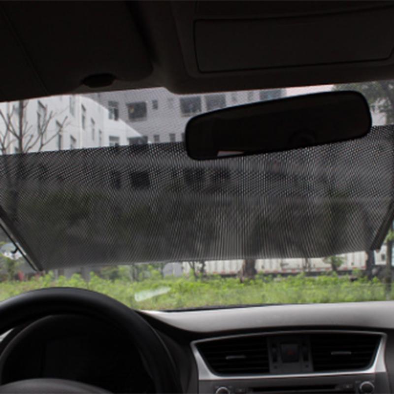 Universal Car Auto Fenêtre Rouleau Store Pare-Soleil Pare-Brise Noir Pare-Soleil Écran Solaire Protection De Voiture-styling Parasol De Voiture couverture