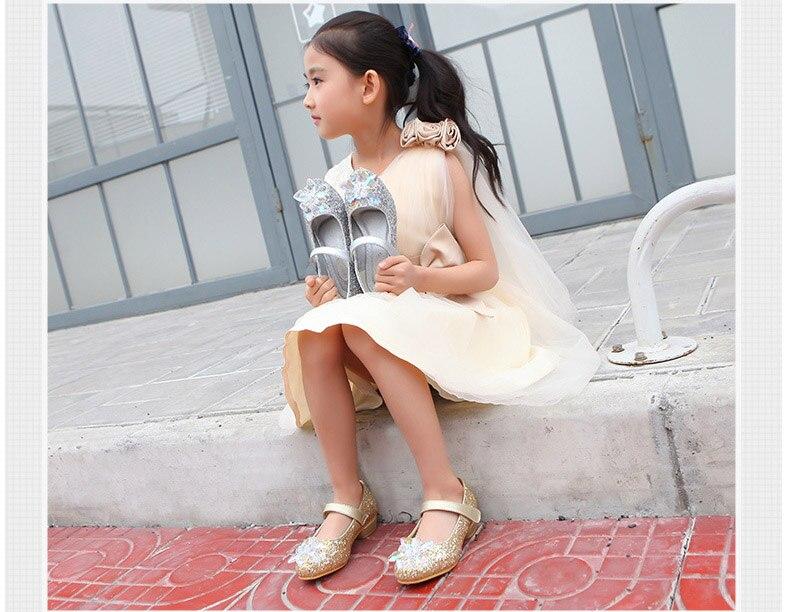 Girls Rhinestone high heels shoes Princess wear kids wholesale childrens Korean style 5AS503-16 Eleven Story
