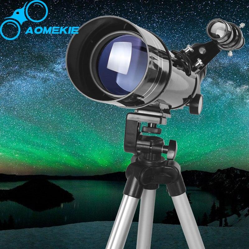 AOMEKIE HD Telescopio Astronomico F40070 Treppiede Compatto Terrestre Space Telescope Erigere Immagine Luna Birdwatching Monoculare