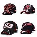 2016 Marc Márquez Firma 93 Cap hormiga de MOTOGP Racing Gorra de Béisbol sombreros de sol Al Aire Libre Racing Cap Snapback 93 Sombreros Para Hombres Mujeres