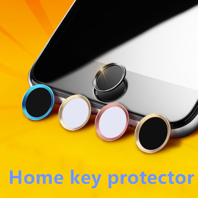 FFFAS Black Silver Rose Gold Mobile Phone Screen Touch ID Home Button Sticker Key Covers Film