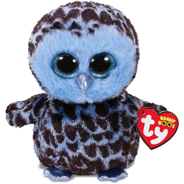 Pyoopeo Ty Beanie Boos 6 15cm Yago The Blue Owl Plush Regular Soft