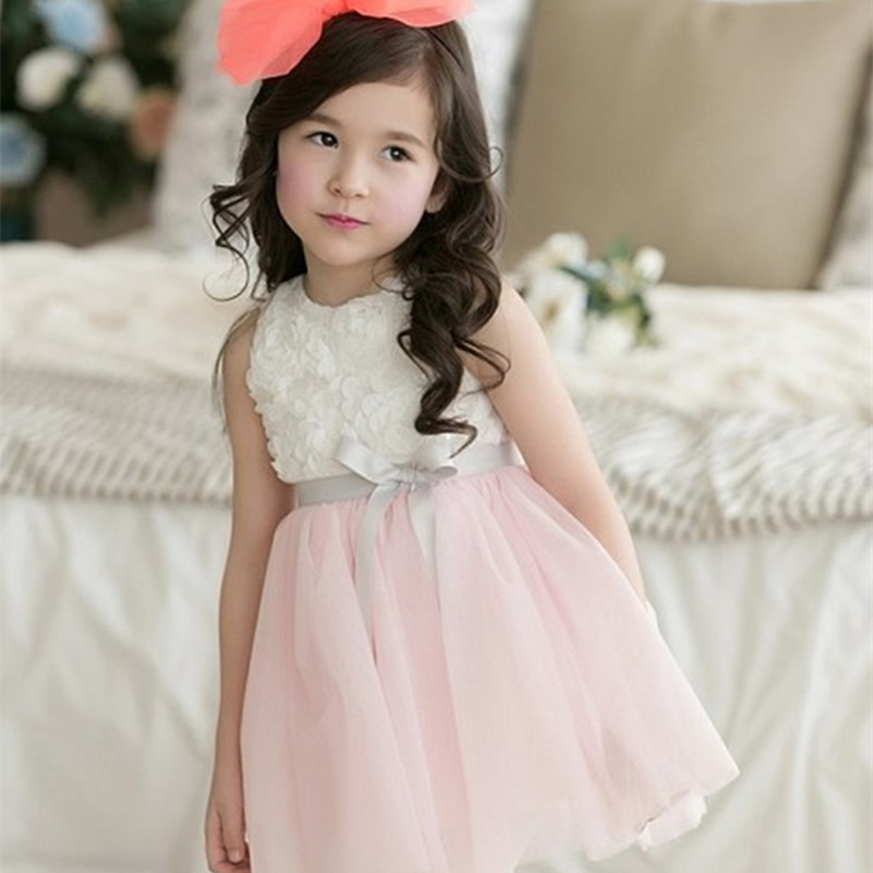 2017 Summer Flower Girls Dresses for Party Wedding Kids Princess Tutu Dress Children Clothes Baby Girl Evening Prom Dress baby girls summer cotton princess top quality kids sleeveless dress children wedding party clothes girl christmas prom dress