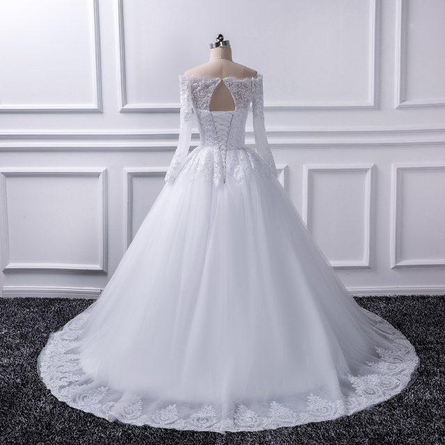Online Shop 2018 Luxury Vintage Long Sleeves off Shoulder Wedding ...