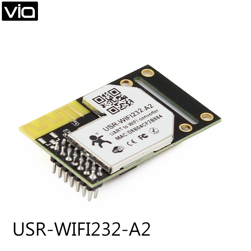 USR-WIFI232-A2 Direct Factory UART TTL to Wifi 802.11b/g/n Module with Internal Antenna,DHCP and DNS freeshipping uart to zigbee wireless module 1 6km cc2530 module with antenna