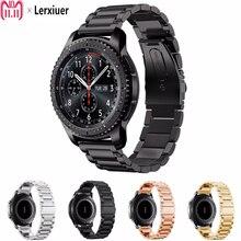 Купить с кэшбэком 22mm Stainless Steel strap for Samsung Gear S3 Frontier/ Classic/ galaxy watch 46mm band Smart watch wrisrt bracelet Accessories