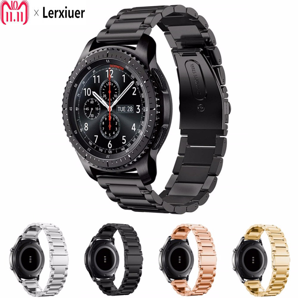 Stainless Steel strap for Samsung Gear S3 Frontier/ Classic/ galaxy watch 46mm 42mm band bracelet Accessories 22mm 20mmStainless Steel strap for Samsung Gear S3 Frontier/ Classic/ galaxy watch 46mm 42mm band bracelet Accessories 22mm 20mm