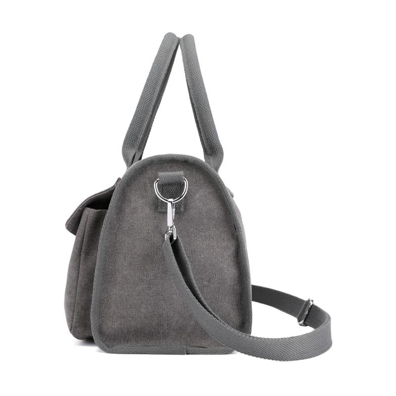 Fabra New Women Canvas Messenger Bags Crossbody Bags Solid Shoulder Bag Casual Designer Female Handbag Middle Size Casual Tote
