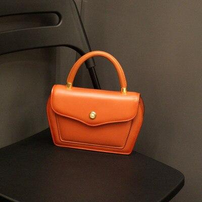 Conception contractée Style femmes noir brun sacs à main dame vache en cuir Messenger sac à bandoulière grande marque Style OL sacs - 2
