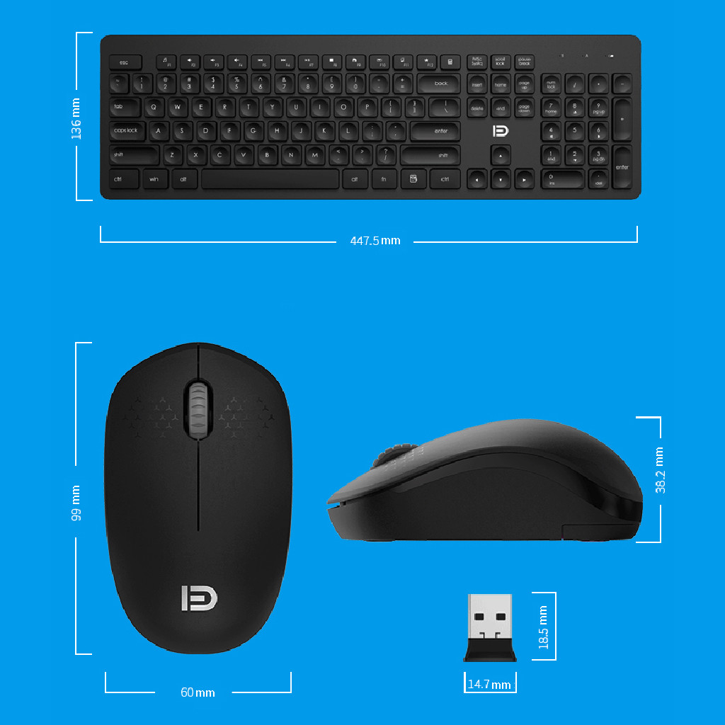 Image 5 - 2.4GHz USB Wireless Keyboard And Mouse Combos For Fashion Office Business Teclado Sem Fio For Smart TV Laptop Computer PC Gamer-in Keyboard Mouse Combos from Computer & Office