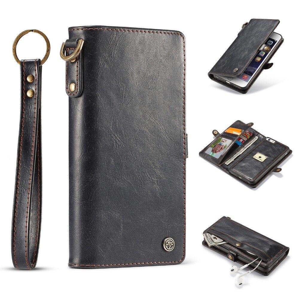 Ретро Стиль кожаный чехол для iPhone 6 S 6 съемная 2 в 1 Премиум магнитных флип телефона случаях чехол для iPhone 6/6 S Plus