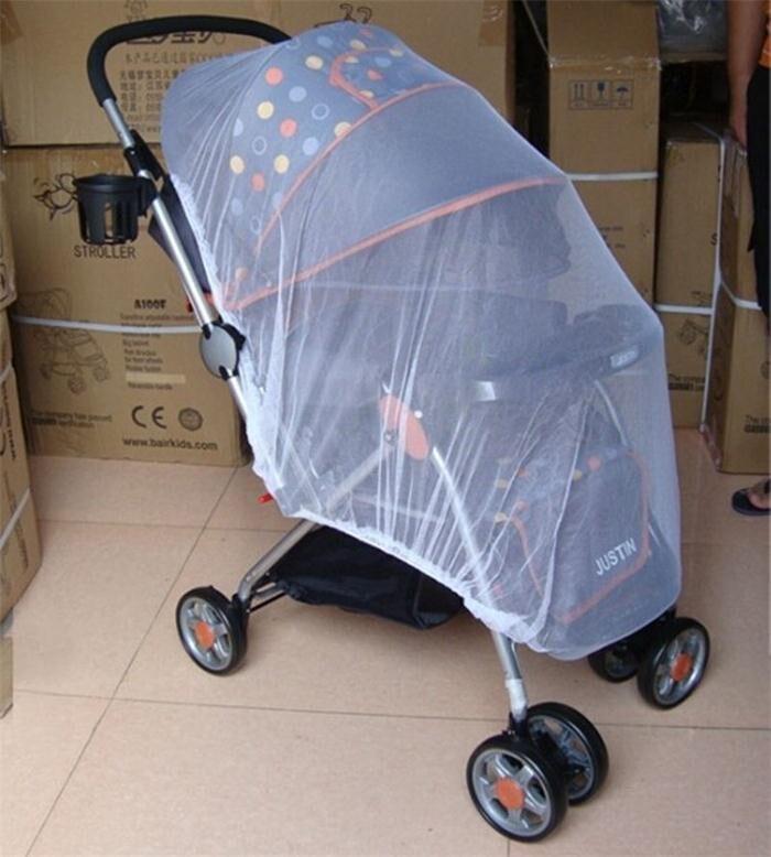 White Pram Net Universal Mosquito Net for Pushchair and Prams Pram Insect Net