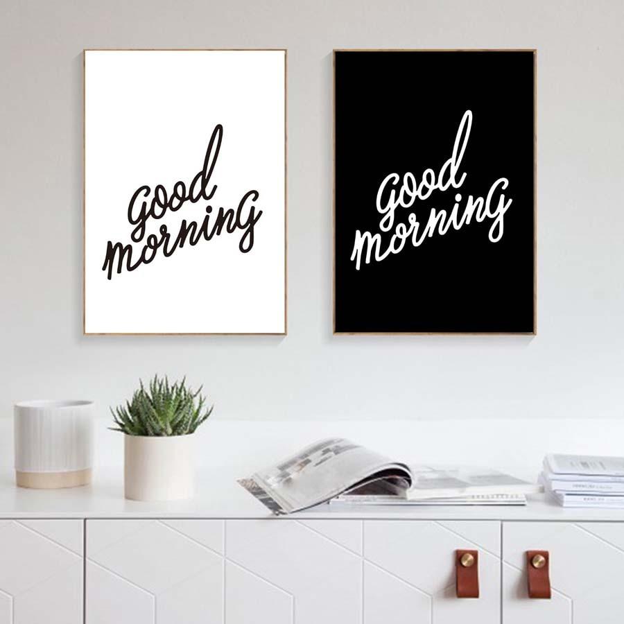Aliexpress.com : Buy Good Morning Wall Art Poster On Wall