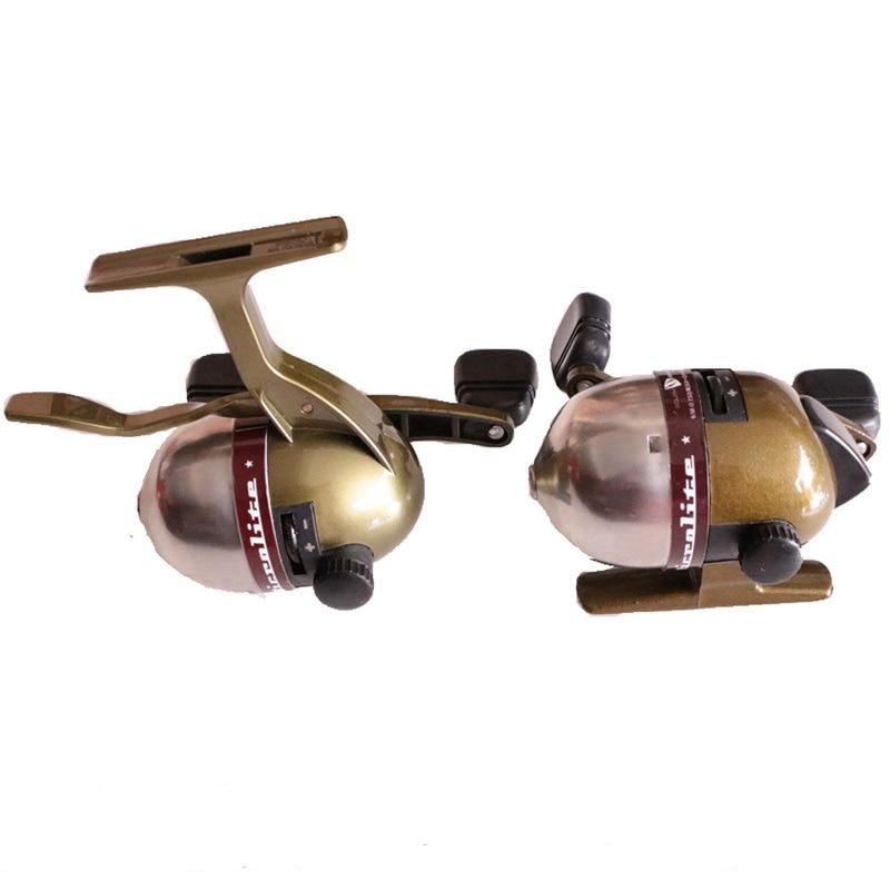 carretel de pesca estilingue peixe roda metal fechado o interior carretel de pesca arpoon dardos carretel