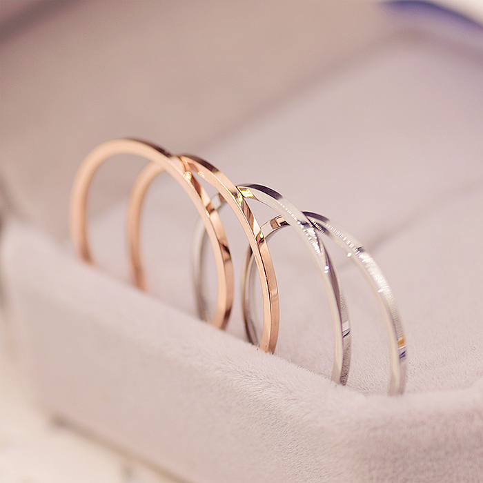 YUN RUO Top Brand Rose Gold Silver Color Super Thin Ring for Woman Man Lady Fashion 316 L Stainless Steel Jewelry Never Fade