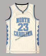 1749a73b3 Michael Jordan  23 University Of North Carolina Camisa De Basquete  Costurado Branco
