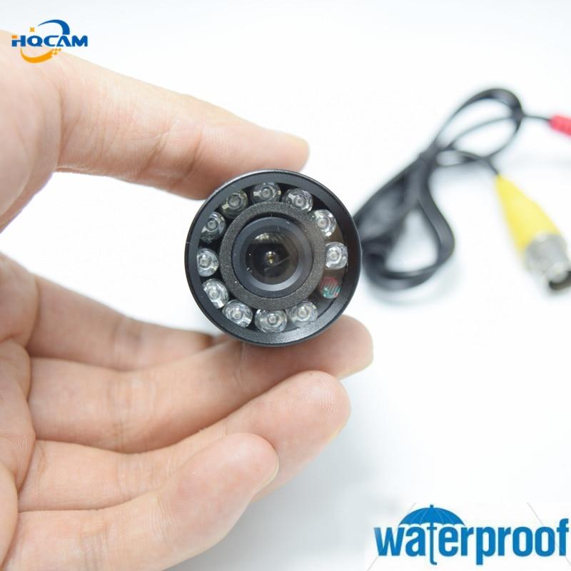 HQCAM Waterproof 1080P Mini AHD camera 2000TVL Night Vision 10pcs IR 940nm Security Outdoor font b