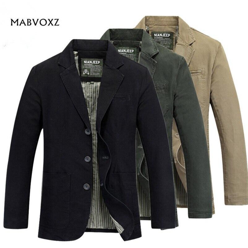Plus la Taille 4XL Hommes Blazers AFS JEEP Loisirs Voyage Partie vêtements Pour Le Printemps Automne D'origine Marque Casual Hommes Vestes 100% coton