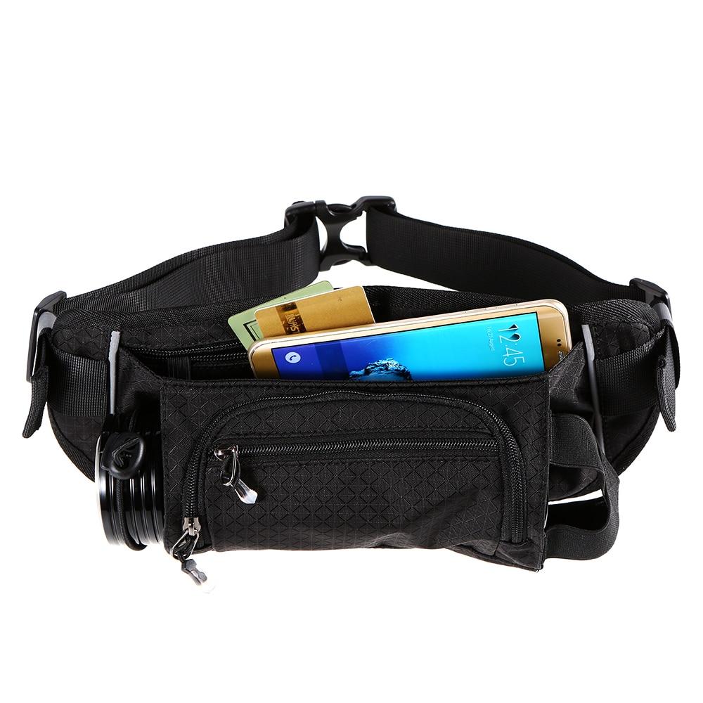Sports Bottle Phone Case: Sports Gym Bag Men Women Running Waist Bag Reflective