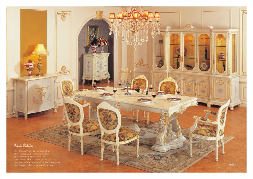 european dining room furniture | European style furniture dining room set Free shipping-in ...