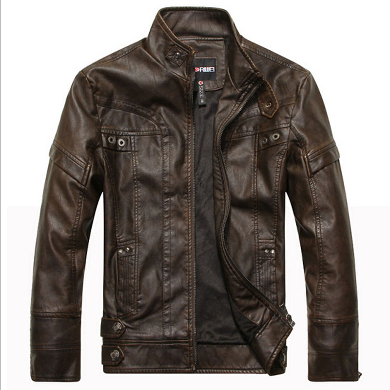 Compare Prices on Brown Leather Jacket Men Sale- Online Shopping