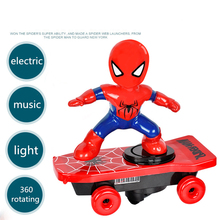 Automatic rotation Electric Skateboard spiderman Dance Robot Electronic Walking