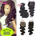Peruvian Body Wave With Closure 3 Bundles With Closure 8a Grade Peruvian Virgin Hair With Closure Peruvian Hair With Closure
