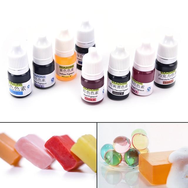 8 Colors 5ml Handmade Soap DYE Pigments Colorant Toolkit Materials Hand Made Soap Base Colour Liquid Pigment 1PCS 3