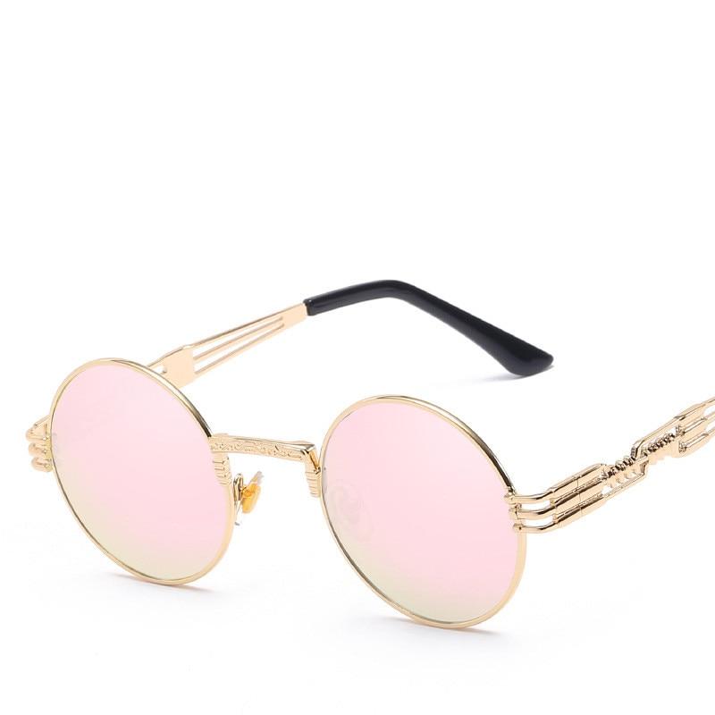 LONSY Overdimensjonerte Retro Runde Solbriller Dame Merke Designer - Klær tilbehør