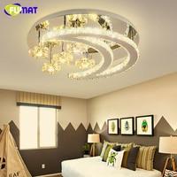 Modern Stars Moon Crystal LED Chandeliers Design Light Fixture For Indoor Living Room Bedroom Lustres Dimming