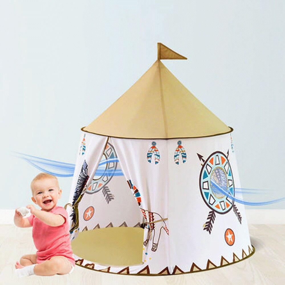 Enfants jouet tentes enfants dessin animé Lion petite maison Portable intérieur extérieur Tipi Tipi tente princesse balle piscine cadeau playhomes