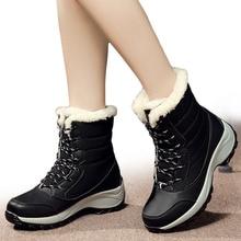 Женские сапоги, зимняя обувь, женские зимние сапоги, большие размеры, популярные сапоги на платформе, зимние женские теплые сапоги, botas mujer, 2018 белые сапоги