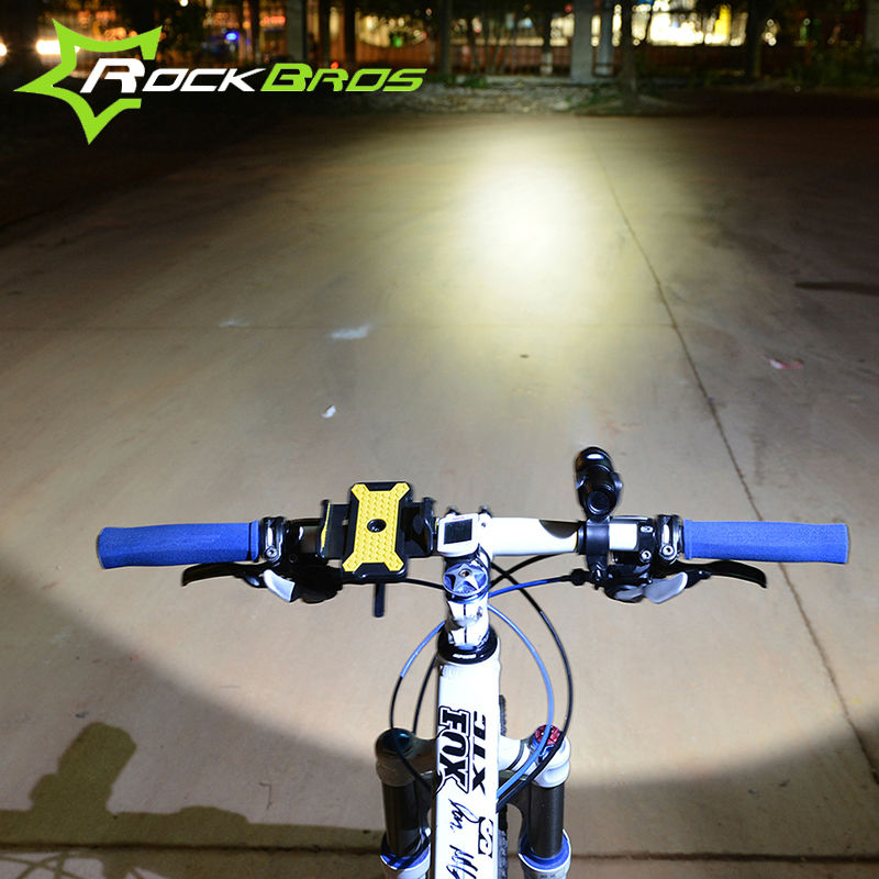 ROCKBROS Bicycle Light Waterproof Bike Front Light Cycling Flash Light Bicycle Rechargeable Torch Light 3-Modes Bike Accessories