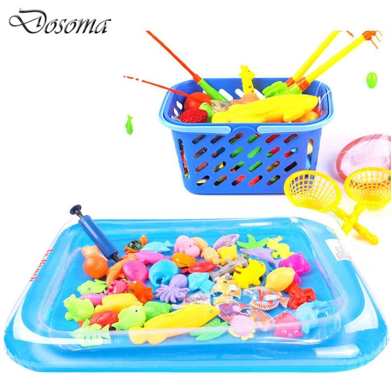 Kids Learning Education Magnetic Fishing Playset Baby Kid Bath Swimming  Fishing Toy Outdoor Fun U0026amp;