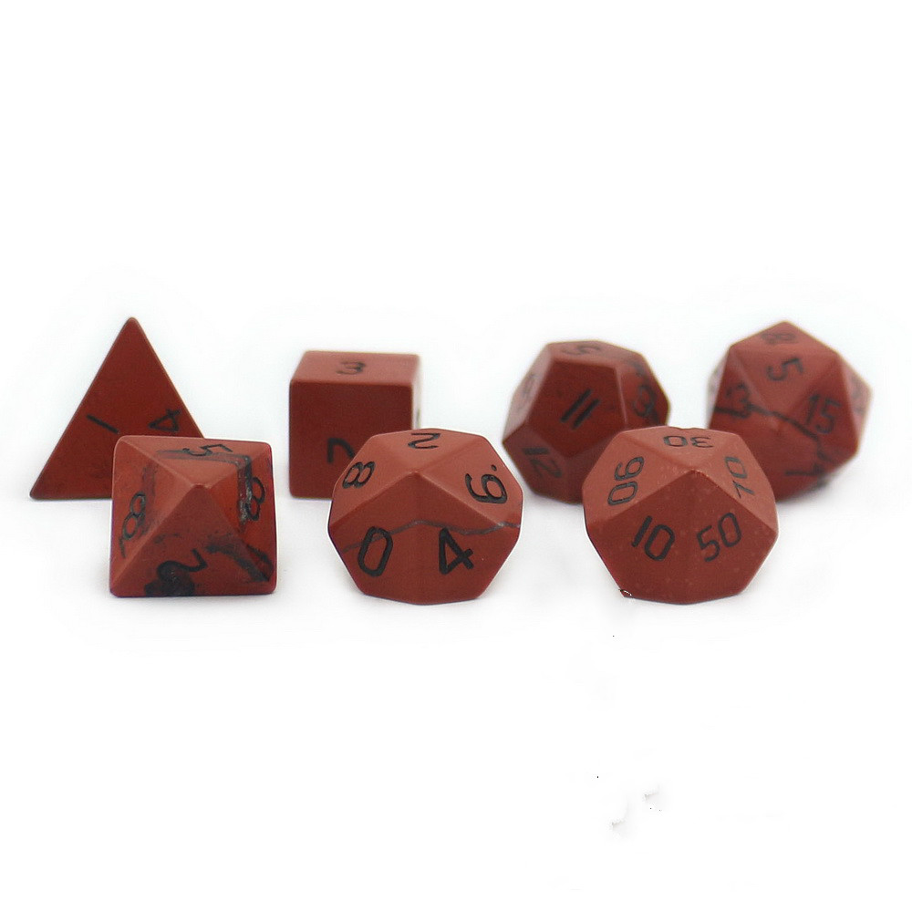 2018 Foreign Trade New Products Dragon and Dungeon D20 System Natural Redstone Multifaceted Digital Dice 7pcs спортивная футболка foreign trade and exports ni ke