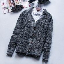 Winter new men's sweater knit cardigan sweater Mens jacquard
