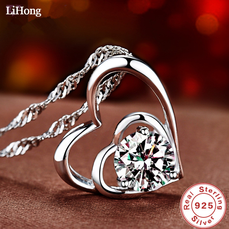 New design 925 sterling silver necklace AAA zircon amethyst pendant necklace woman birthday giftNew design 925 sterling silver necklace AAA zircon amethyst pendant necklace woman birthday gift