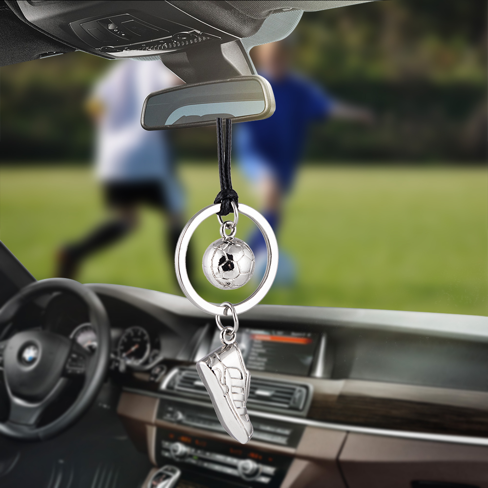 Car Pendant Automobile Decoration Charm Football Soccer shoes Auto Interior Rear View Mirror Hanging Ornaments Cool