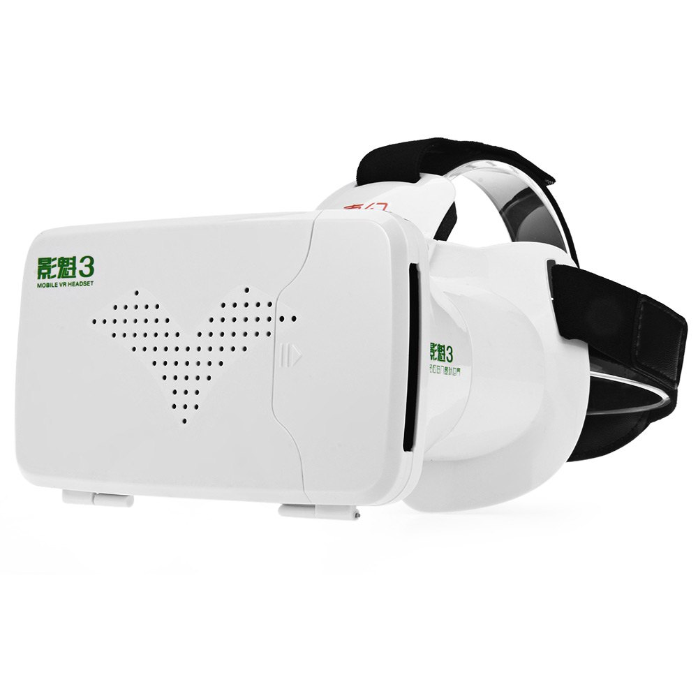 RITECH Riem III Virtual Reality Elastic Band Design 3D Head-Mounted Glasses with High-definition Optical Lens 3D Video Glasses