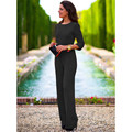 Fashion Summer Solid Rompers One Piece Pants Jumpsuit Overalls Ladies Black Sexy Hollow Out Club Wear Womens Clothing