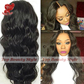 Thick 180 Density Body Wave Synthetic Lace Front Wig Long Black Hair African American Synthetic Wigs for Black Women