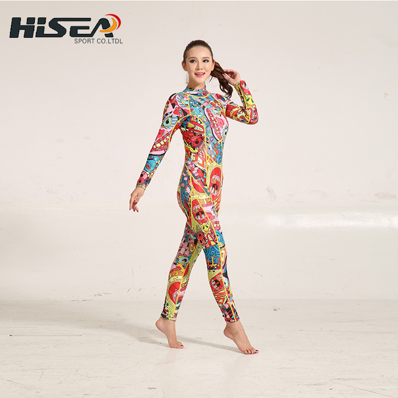 цена на Spearfishing Wetsuit For Swimming neoprene women Surfing Suits For Women Rash Guard Swimwear Diving Suit Full Body Surf Wetsuit