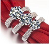 Тесты положительный 1.5 карат mossanite Gem Свадьба Обручальное из натуральной 585 Кольца, Кольца для Для женщин, кольцо способа,