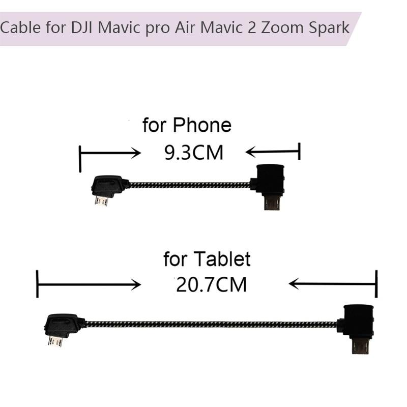 Controller Adapter Micro-USB Reverse Port Type-C Data Cable OTG Connector For DJI Mavic Pro Platinum Air Mavic 2 Zoom Spark
